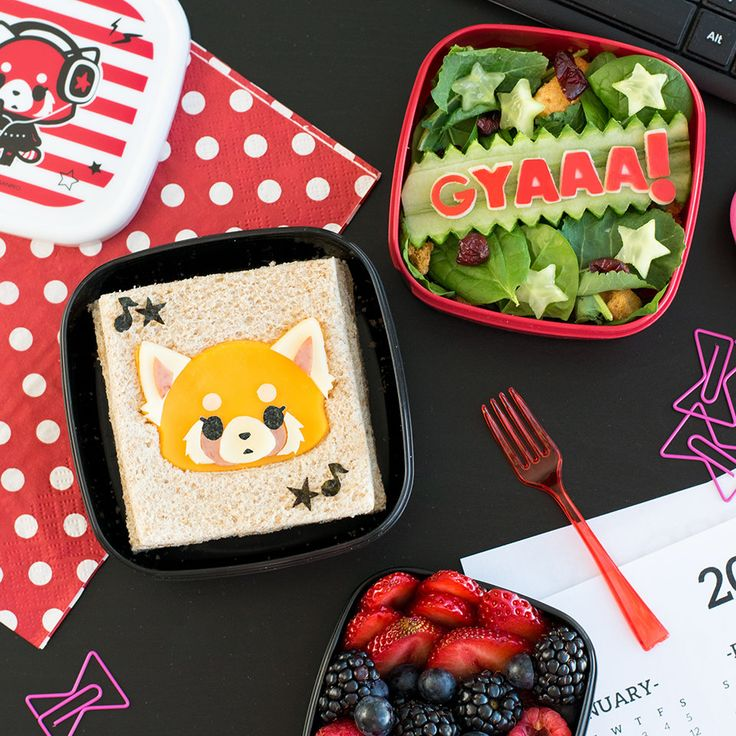 Pack your lunch with aggretsuko bento box anime bento