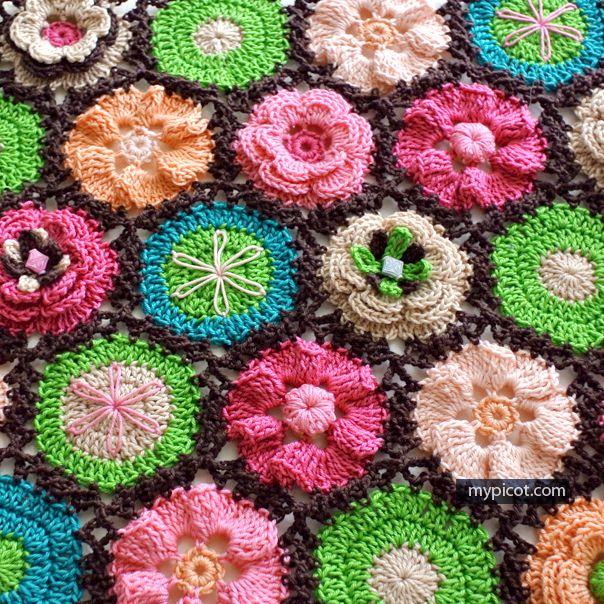 Crochet Flower Motifs Collection - Free Crochet Patterns - (mypicot)