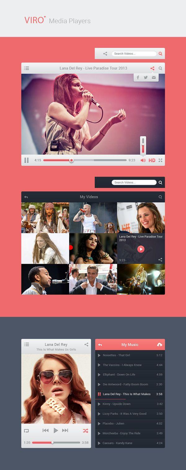 GraphicBurger » Viro Media Players UI