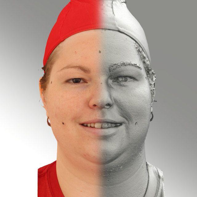 3D Head Scan Of Smiling Emotion   Misa