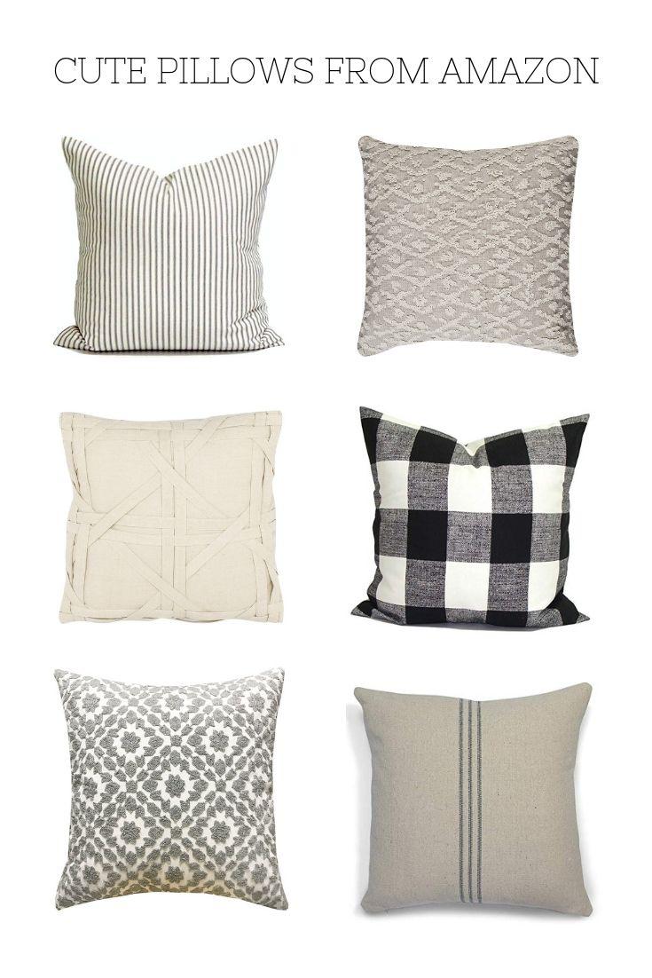 Modern Farmhouse Pillows From Amazon Modern Farmhouse Living Room Decor Farmhouse Style Chairs Living Room Decor Modern