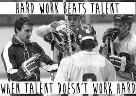 Hard work beats talent when talent doesn't work hard. (Freedom of Excess: The Herb Brooks Guide to Life)