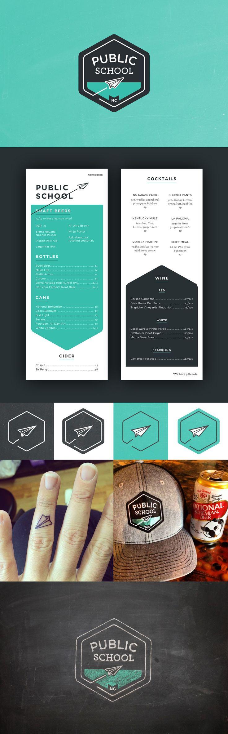 Public School Bar ~ Branding & Design by Snow in July Designs #logodesign #branding