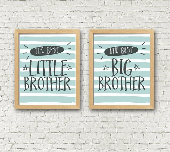 Brothers Wall Art Print Set Of 2 Big Brother Little Brother Etsy Boy Room Printables Art Print Set Brothers Room Decor