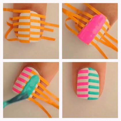 Stripes Nail Art Tutorial