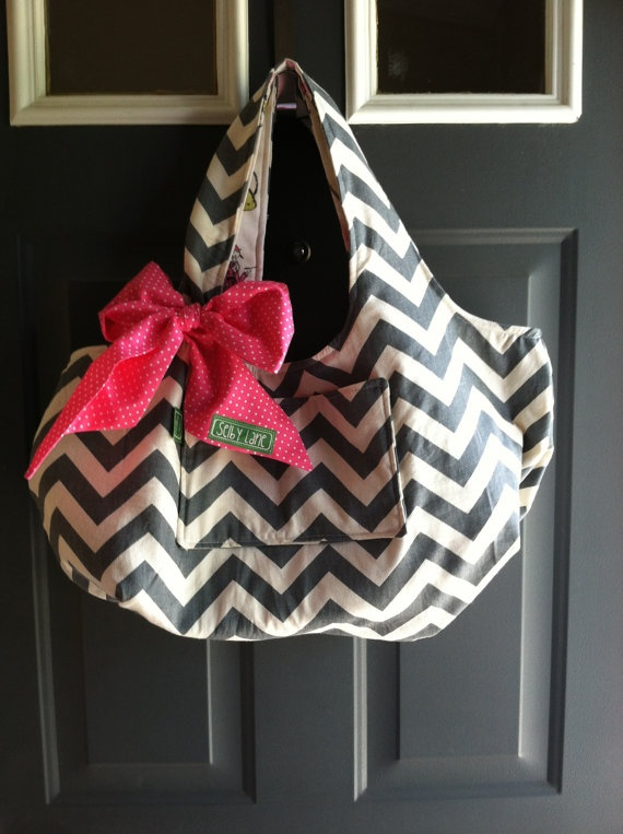 Chevron Hobo Purse by SelbyLaneBoutique on Etsy, $40.00