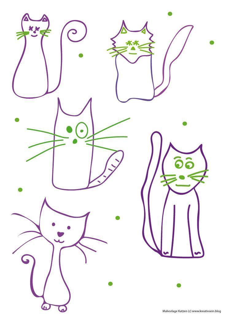 Katzen Malen Leicht Gemacht Ideen Fur Kinder Und Anfanger Simplepainting Tk Simple Painting Katze Malen Katzen Geburtstag Katze Zeichnen
