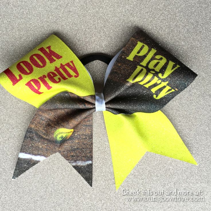 Look Pretty, Play Dirty Softball Bow