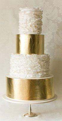 блестящие свадебные торты