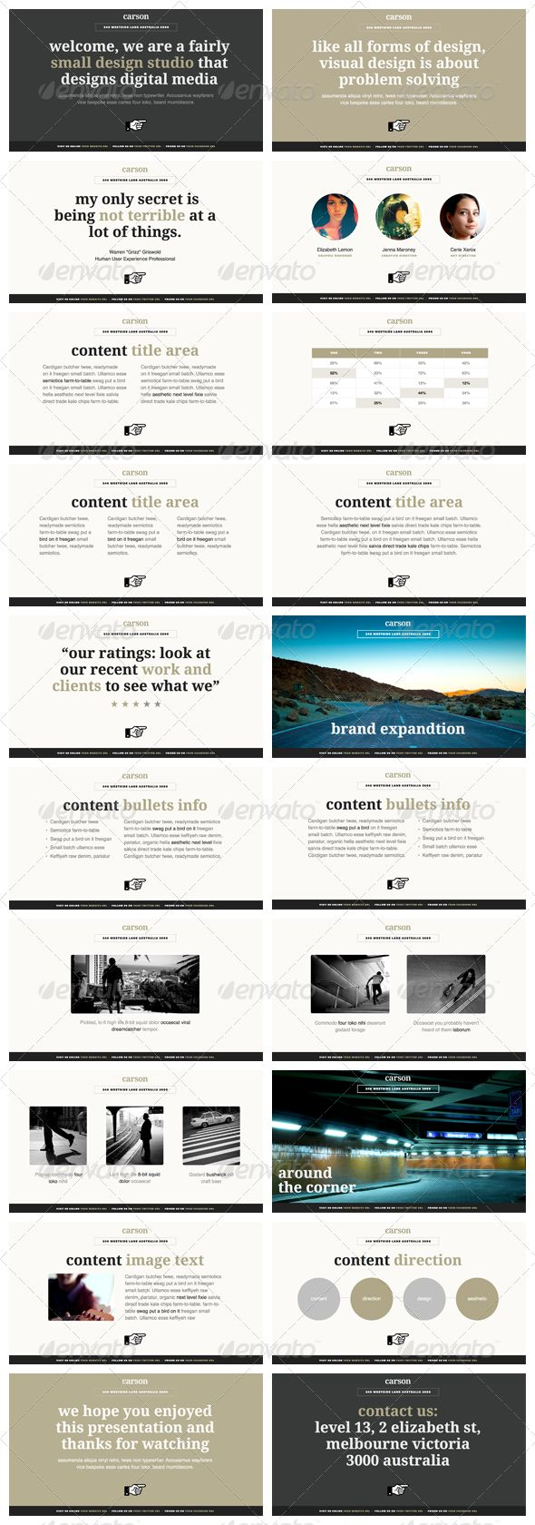 Carson - Keynote Presentation Template | Keynote theme / template