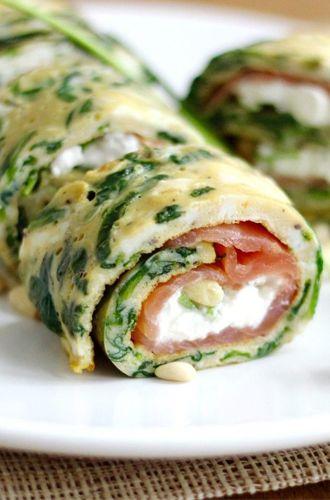 Vandaag staan er overheerlijke omelet wraps met zalm en cottage cheese op het menu,yum! Hie vind je het recept voor vier personen.