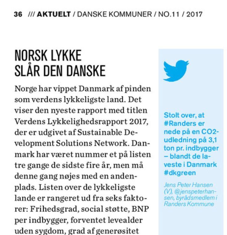 Anden gang jeg får et tweet videreformidlet i magasinet Danske Kommuner