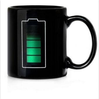 Batería caliente calor frío de color sensible al cambio de taza de agua de la taza de té de la batería mágica divertida