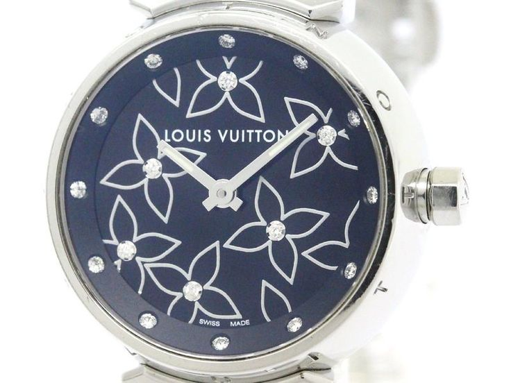 Polished #LOUISVUITTON Tambour Lovely Diamond Quartz Ladies Watch Q121G BF110437: All of #eLADY's items are inspected carefully by expert authenticators who have years of experience. For more pre-owned luxury brand items, visit http://global.elady.com