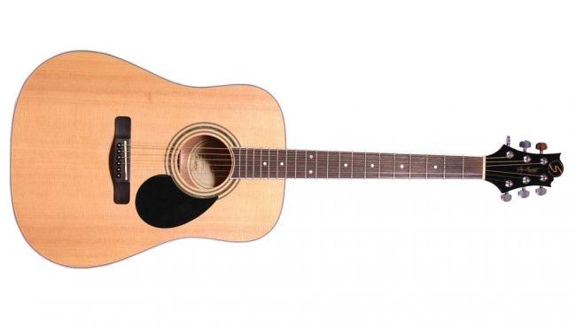 Greg Bennett GD 100S Natural Acoustic Guitar.