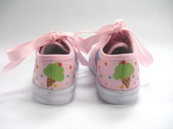 Cupcake Shoes Ice Cream Theme Birthday Party Pink Sneakers