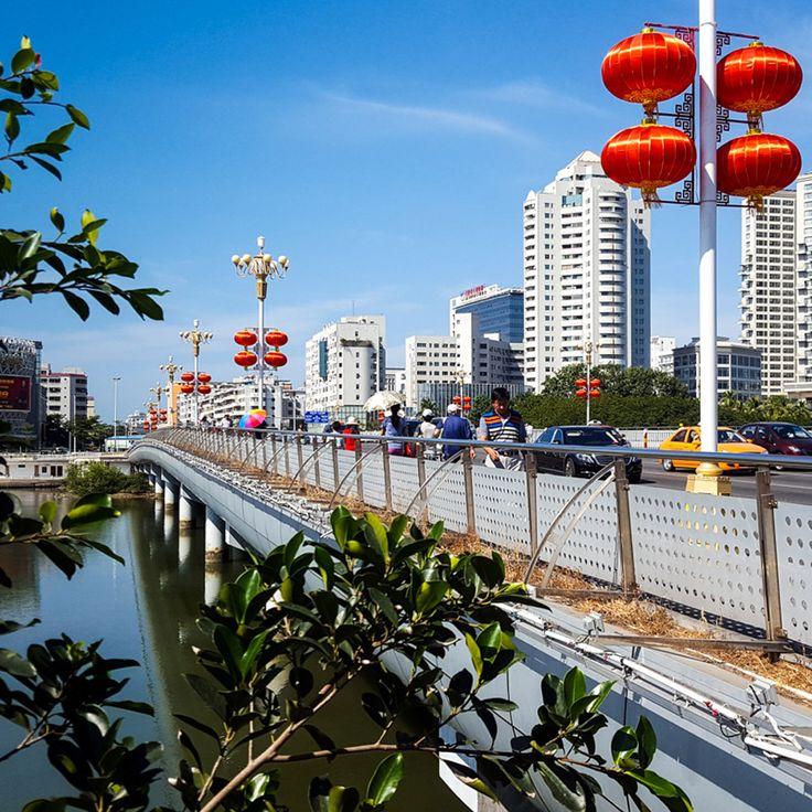 Sanya Downtown, Hainan Island, China / Город Санья, остров Хайнань, Китай