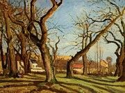 "New artwork for sale! - "" Chestnut Trees At Louveciennes 1872 by Pissarro Camille "" - http://ift.tt/2mx6d83"