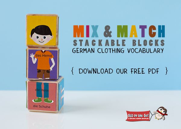 I adore this freebie. German Clothing Vocabulary Printable