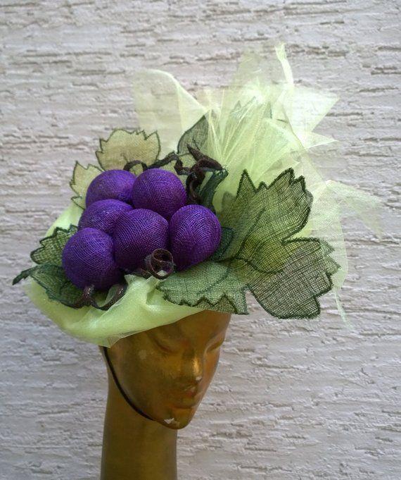 Grape sinamey headpiece by Irina Sardareva Couture Millinery  Derbyhat   Melbornecup  millinery  fascinator  hatlovers b719d646dbd