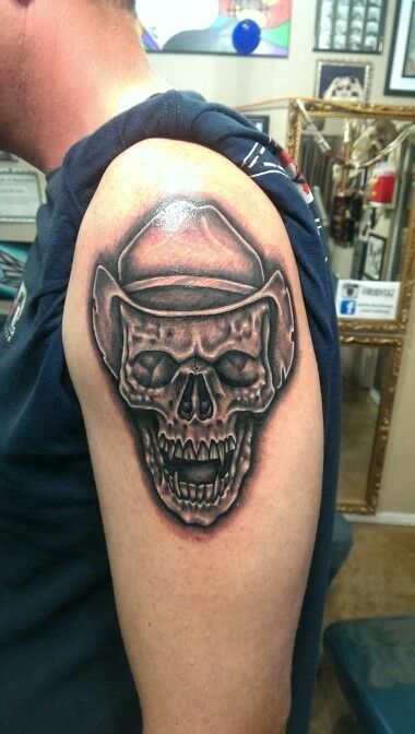 Skull With Cowboy Hat Tattoo 25+ best ideas about C...