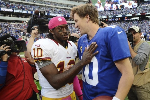 "Robert Griffin III: Face of the franchise - The Washington Post. ""I'm sorry, Eli. You just can't be me"""