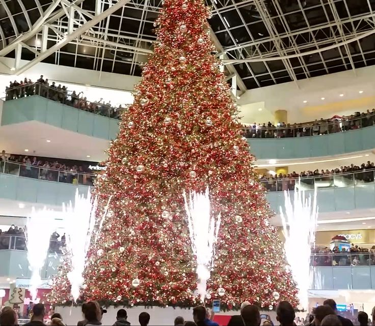 screen capture of tree programmed by synchronized christmas with fireworks going off during the customers