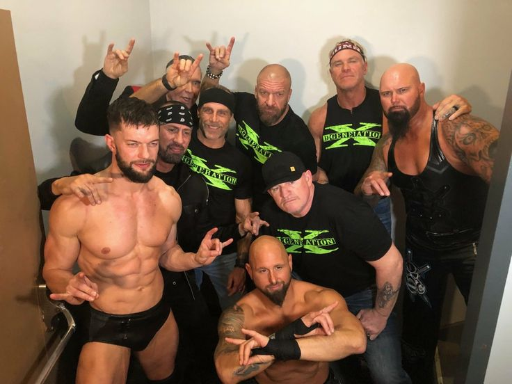 Triple H, HBK Shawn Michael, X-Pac, Scott Hall, The New Age Outlaws Road Dogg, Billy Gunn, Finn Balor, Luke Gallows, Karl Anderson 1/22/18