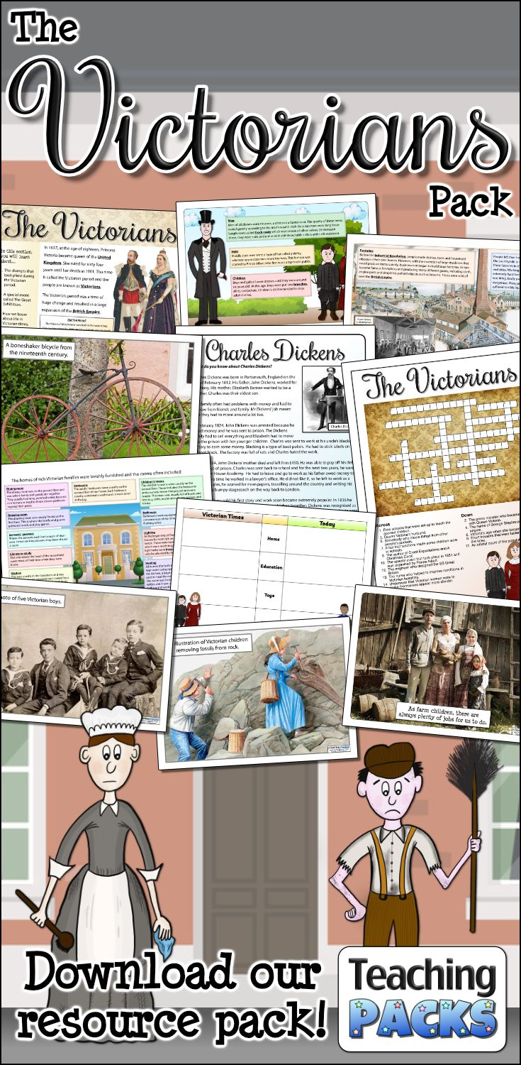 Help your children to discover this fascinating period of History with our Victorians Pack! It includes a HUGE eBook that can be used for shared reading and independent research, along with a bumper collection of teaching, activity and classroom display resources. Available from http://www.teachingpacks.co.uk/the-victorians-pack/