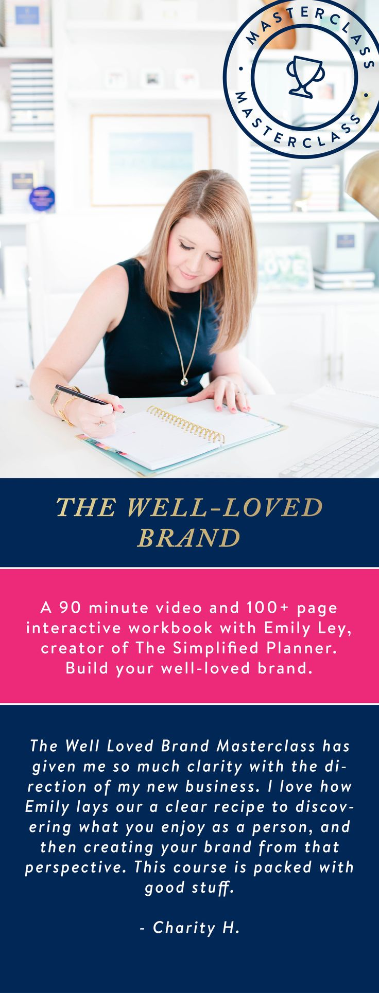 The ultimate masterclass for creatives and business owners. 90 minute video + 100+ page workbook by Emily Ley. $280.