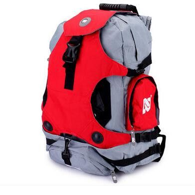 Adult Roller Skate Shoes Backpack Double-Shoulder Bag Outdoor Sports Bags Travel Hiking Camping Backpacks Size Medium & Big