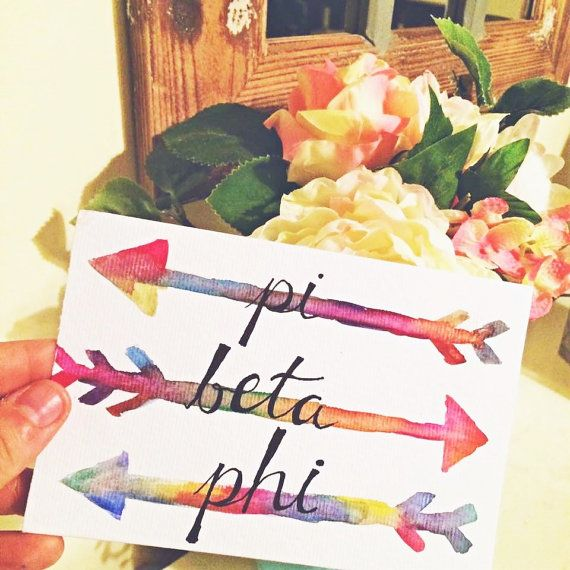 Pi Beta Phi Watercolor by SimpleJoysDesign on Etsy