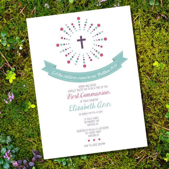 First Communion / Baptism / Christening by SunshineParties on Etsy, $5.00