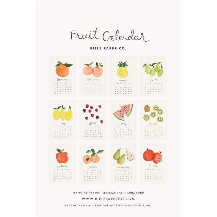 2012 Rifle Small Fruit Calendar