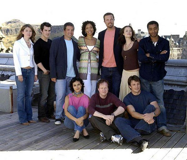 Firefly cast with Joss Whedon