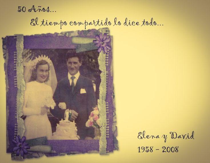Unicos invitaciones para bodas de oro ideas originales - Ideas aniversario originales ...