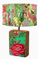 Lamp Shade #03 Patchwork Green