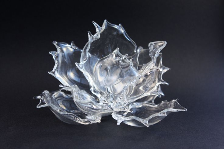 Glass rose, lampwork--------------- GlassFlemming / Jan Lange