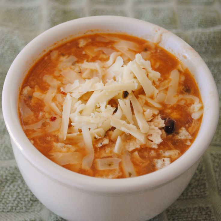 Chicken Enchilada Soup in crockpot