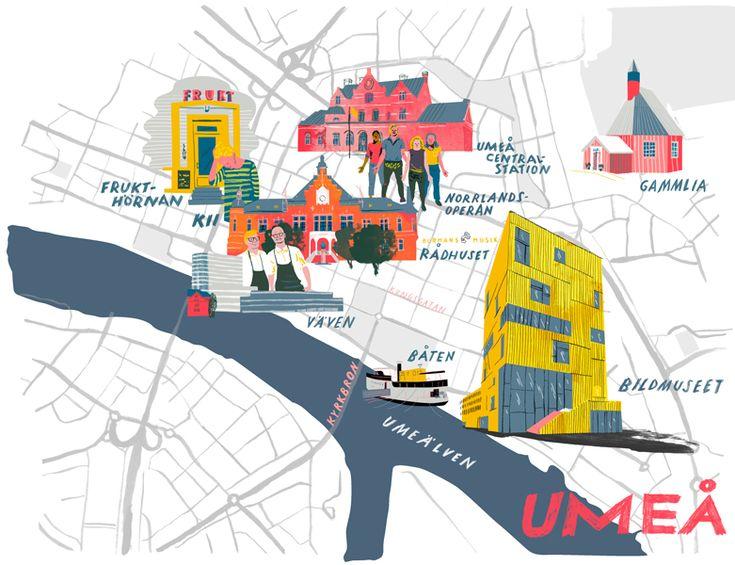 umea map