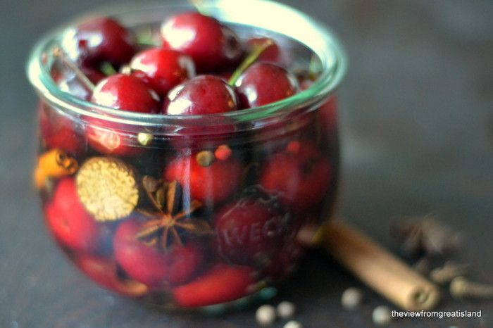 The View from Great Island | It's 5:00 Somewhere Friday: Holiday Spiced Cocktail Cherries