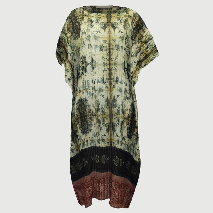 Pleated Kaftan Chinoiserie