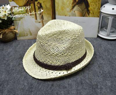 Г-жа британский стиль мужской пляж шляпа шляпа солнца шляпа летом корейской версии полого ночном клубе ручной соломенной шляпе - Taobao
