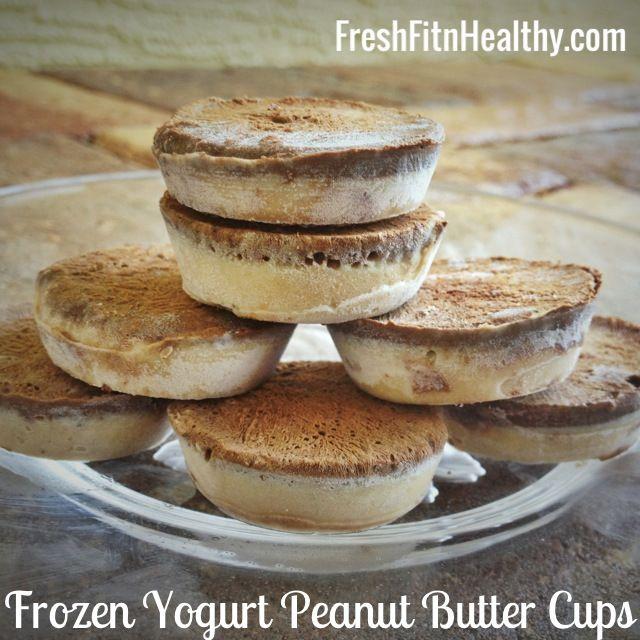 Reeses Cup Frozen Yogurt Bites