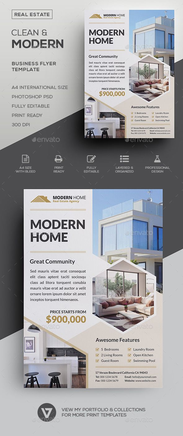 real estate flyer a classy and highly versatile real estate flyer