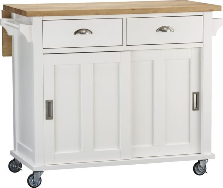 Belmont white kitchen island - Stylishly modern kitchen islands additional work surface ...