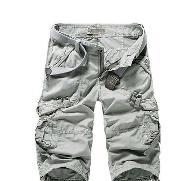 Mens Cargo Shorts Pants Summer Casual Jogger Sport Army Combat Stretch Trousers!