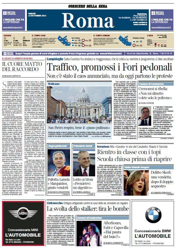 Il Corriere della Sera Ed. ROMA (12-09-13) Italian | True PDF | 24 pages | 5,78 Mb