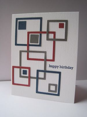 luv this look of mod art with die cut open squares...