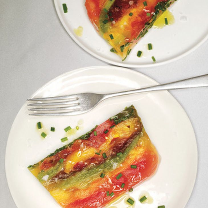 127 best images about terrines on pinterest smoked for Tomato terrine
